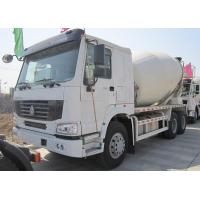 Yellow 290 HP Concrete Mixer Trucks With Mixer Tank 6 Cubic Meters Manufactures