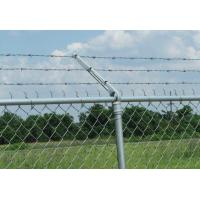 8 Ft X 50 Ft Chain Link Fabric Fencing With Razor Barbed Wire For High Level Security Manufactures