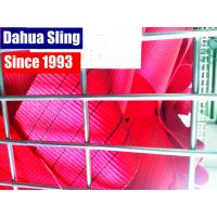 150 MM 5 Ton Red Heavy Duty Polyester Webbing Roll TUV GS Certificate Manufactures