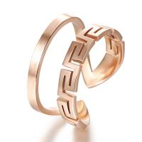 2015 Fashion 316L Stainless Steel Rose Gold Plating Bangle Manufactures