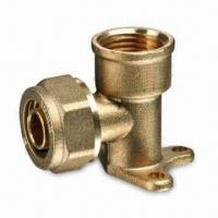 Brass Compression Fittings for PEX Pipes, with Forged Body and Nut, Meets ISO/CE Marks Manufactures