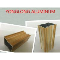 Cream - Colored Wood Finish Aluminium Profile For Kitchen Cabinets Rectangular Shape Manufactures