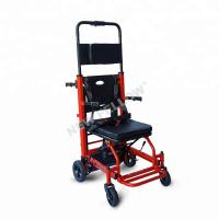 Red Color Portable Electric Stair Climbing Wheelchair Lift Heavy Duty Flat Free Wheels Manufactures