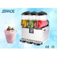 Table Top Commercial Frozen Drink Slush Machine 3 Bowl Stainless Steel Material Manufactures
