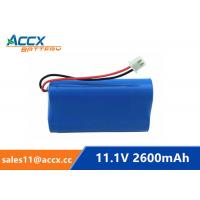 China 18650 11.1V 2600mAh li-ion battery pack with pcm protection on sale