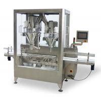China Albumen Auger Dry Powder Filling Machine Automatic With 1 Line 2 Fillers on sale