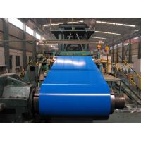 Customized PPGI / PPGL Pre Painted Color Coated Steel Coil Red / Sky Blue Manufactures