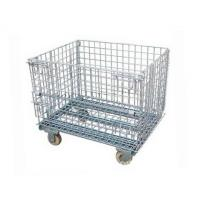 Foldable Wire Mesh Storage Cages Stackable Basket Container 800kg Load Capacity