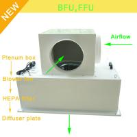Buy cheap Low Noise 65bBA Clean Room Blower Fan Filter With Large Airflow 0.35 - 0.75m/S Speed from wholesalers