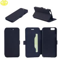 Black Soft Comfortable Cell Phone Protective Cases Leather For Iphone 6 Manufactures