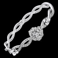 Piaget Rose bracelet in 18K white gold set with 190 brilliant-cut diamonds  G36U3600 Manufactures