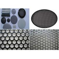 Quality Durable Round Hole Mesh 5mm Wire  , Aluminum Sheet Metal With Round Holes for sale