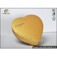 Handmade High Grade Cardboard Chocolate Boxes , Food Gift Boxes Heart Shaped Manufactures