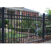 security spear top steel fence, garden wrought iron fencing Manufactures