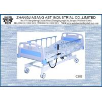 Three Function Electric Hospital Bed Adjustable Height With CPR Linak Motor Manufactures
