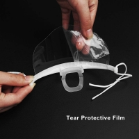 Hygiene Double Sided Fogging Prevention Transparent Plastic Face Mask Manufactures