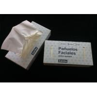 Eco-friendly virgin wood 13~14gsm Box Facial Tissue Paper , 2ply * 100 sheets Manufactures