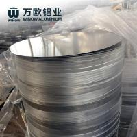 Smooth Round Anodized Aluminum Discs Corrosion Resistant Natural Color Manufactures