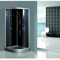 Enclosed Framed Shower Glass Doors , Custom Glass Shower Walls Black Back Manufactures