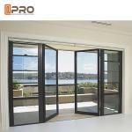 Sunshine Room Kitchen Sound Insulation Aluminum Alloy Door / Vertical Hinged
