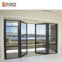 Sunshine Room Kitchen Sound Insulation Aluminum Alloy Door / Vertical Hinged Door Manufactures