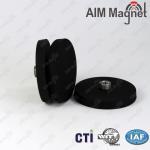 Neodymium rubber coated pot magnet Manufactures