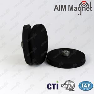 China Neodymium rubber coated pot magnet on sale