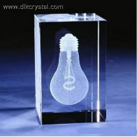 China 3D laser crystal cube gift for home decoration/holiday supplier valentine day gift pulicrystal-432 on sale