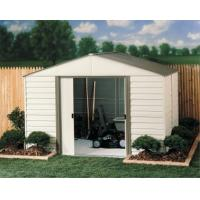 6x6ft metal garden shed with cream and green color Manufactures