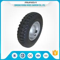Steel Rim Pneumatic Rubber Wheels 20mm Inner Hole Ball Bearing 150kgs Loading Manufactures