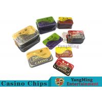 Quality Crystal Acrylic Casino Poker Chips , Mesh Bronzing Silkscreen Custom Casino Chips for sale