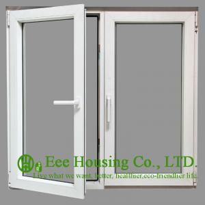 Tempered Safety Glass Aluminum Casement Windows, Powder Coating Finished