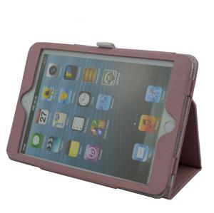 Folio Blank Ipad Mini Protective Covers , Purple Ipad Magnetic Cover Manufactures