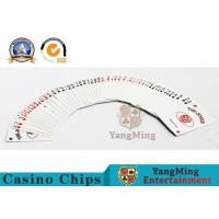 0.3mm Thickness Casino Poker Cards , Jumbo Index 100% Black Core Papper Playing Cards Manufactures