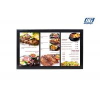 Black Frame Wall Mounting 43'' LCD Multi Screen Display Area Advertising Player Manufactures