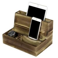 Mens Cell Phone Wooden Charging Station For Desk Sundries Customized Color Manufactures