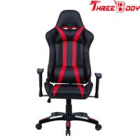 Professional Racing Seat Office Chair , Black And Red Pc World Gaming Chair Manufactures