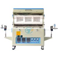 1200C three muilti zones vacuum atmosphere tube furnace with quartz tube and programmable controller Manufactures