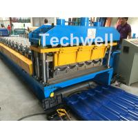 3D Step Tile Roll Forming Machine , Glazed Roof Panel Roll Forming Machine Manufactures
