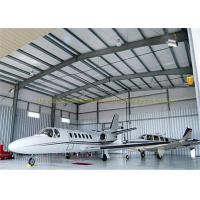 China Large Span Structurel Steel Airplane Hangars With Frame Use Life 50 Years on sale