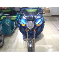 China Passenger 48V 650W Electric Powered Tricycle Blue With Rear Box wholesale
