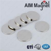 China N38 Disc magnet Dia. 12*1.5mm Nickel coated on sale