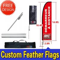 Windchaser Feather Flags Banner with fiberglass pole , cross base and carry bag Manufactures