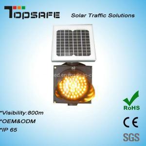 High Luminance Anti-High (low) Temperature 300mm Solar LED Traffic Amber Flashing Light Manufactures