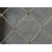 Twill Weave Rockfall Protection Netting Spider Spiral Rope Mesh Silver Color Manufactures