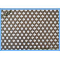 Round Hole Hot Dipped Galvanized Decorative Perforated Metal Panels Mild Steel / Carbon Steel Manufactures