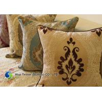 Patterned Embroidery SuperfineChenille Cushion For Sofa , Chenille Pillow Manufactures