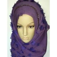 Embroidery Silk Hijab Scarf (LC-C055) Manufactures