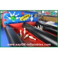 PVC Inflatable Sports Games Inflatable Bowling Balls Pool Filed With Balls Manufactures