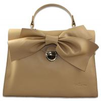 China promotional goods big bow genuine leather wristlets bags cross-body bags on sale